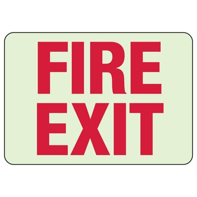 Luminous Exit and Path Marker Signs - Fire Exit