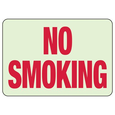 No Smoking - Glow-In-The-Dark No Smoking Signs