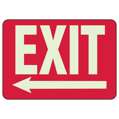 Exit Arrow Left - Setonglo Luminous Exit And Path Marker Signs