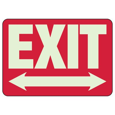 Exit Arrow Left/Right - Setonglo Luminous Exit And Path Marker Signs