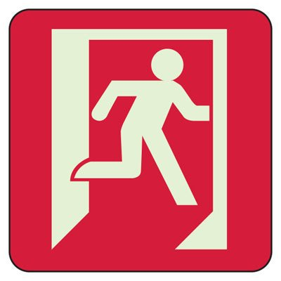 Exit (Graphic) - Exit and Fire Glow Signs