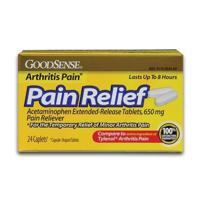 GoodSense® Arthritis Pain Relief Acetaminophen Caplets LP54462