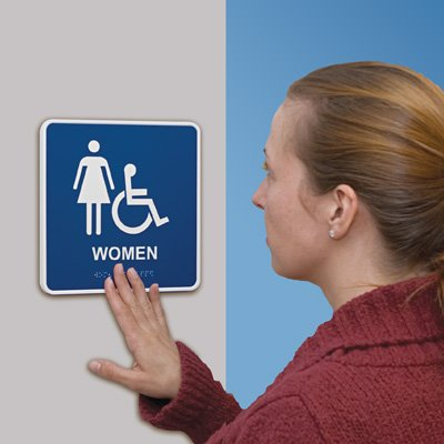 Rest Room - Braille Restroom Signs