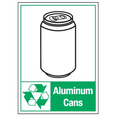 Graphic Recycling Labels - Aluminum Cans