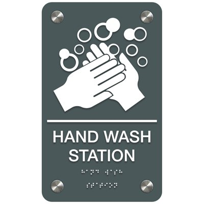 Hand Wash Station - Premium ADA Facility Signs