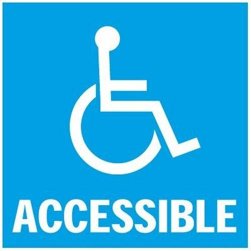 Handicap Label with Front Adhesive
