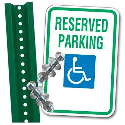 Handicap Parking Space Kit - Reserved Parking (With Graphic)