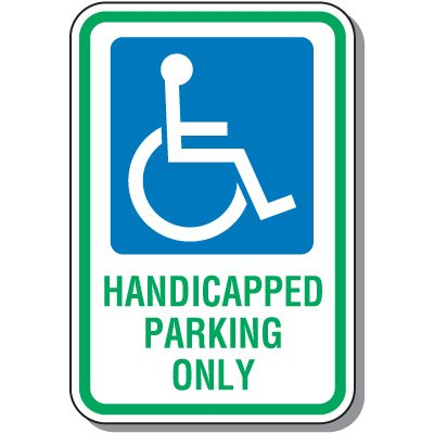 This is a picture of Printable Handicap Signs in handicap permit required