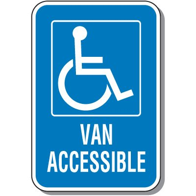 Handicap Signs - Van Accessible (Symbol of Access)