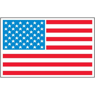 Safety Training Labels - American Flag