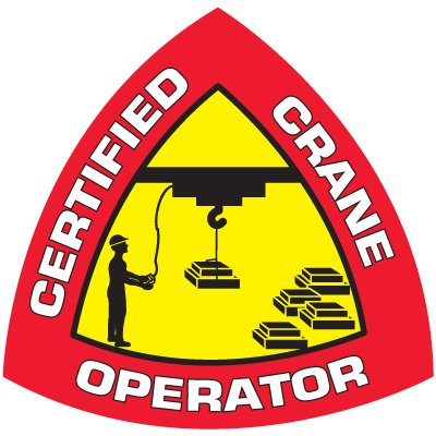 Safety Training Labels - Certified Crane Operator