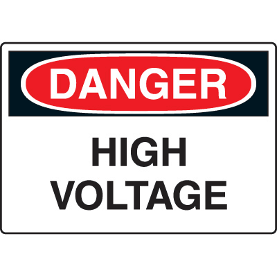 Harsh Condition OSHA Signs - Danger - High Voltage