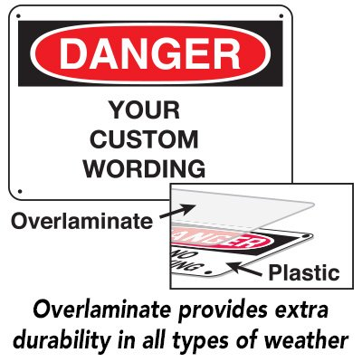 Harsh Condition OSHA Signs - Danger - Restricted Area