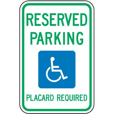 Hawaii State Handicap Signs - Reserved Parking Placard Required