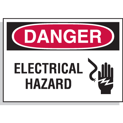 Hazard Warning Labels - Danger Electrical Hazard