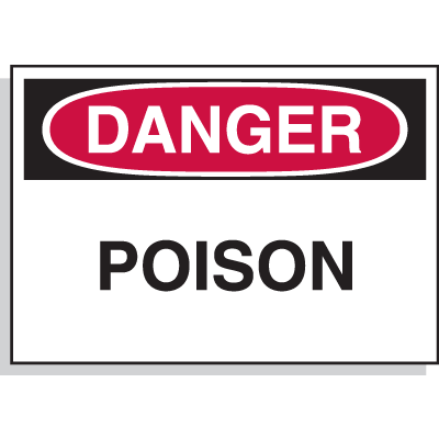 Hazard Warning Labels - Danger Poison