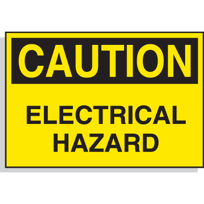 Hazard Warning Labels - Caution Electrical Hazard