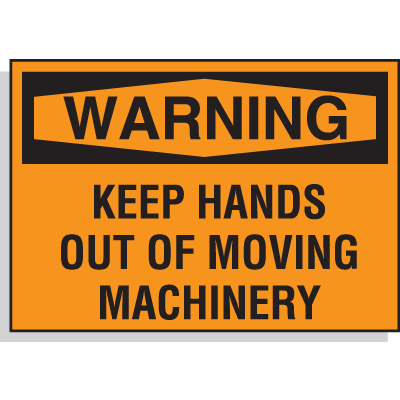 Hazard Warning Labels - Warning Keep Hands Out Of Moving Machinery