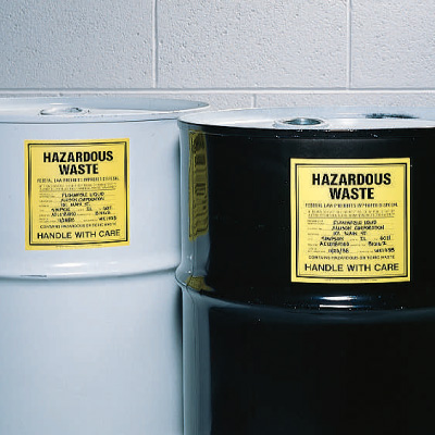 Solid N.O.S. Hazardous Waste Container Labels