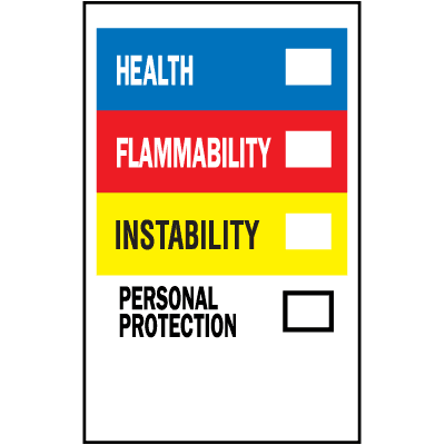 HazCom Labels-On-A-Roll - Health, Flammability, Instability