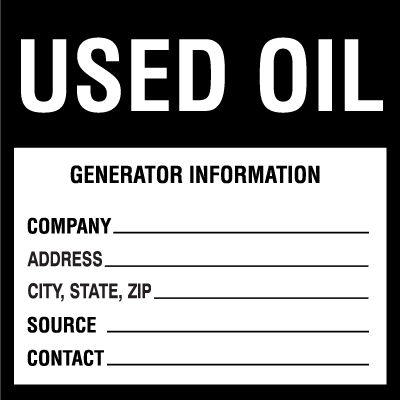 Hazwaste & Drum Labels-On-A-Roll - Used Oil