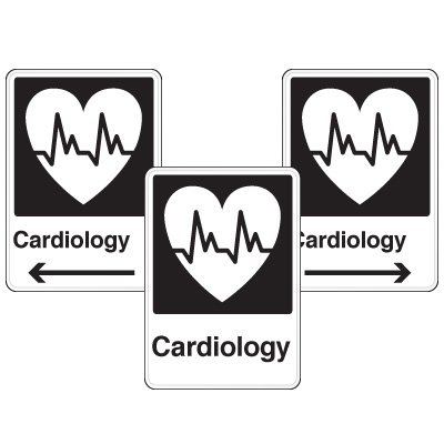 Health Care Facility Wayfinding Signs - Cardiology