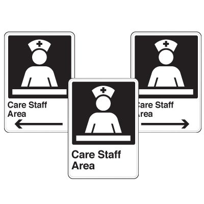 Health Care Facility Wayfinding Signs - Care Staff Area