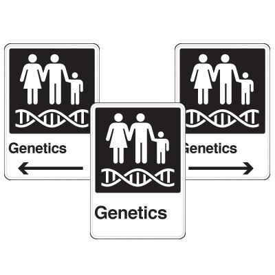 Health Care Facility Wayfinding Signs - Genetics