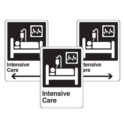Health Care Facility Wayfinding Signs - Intensive Care