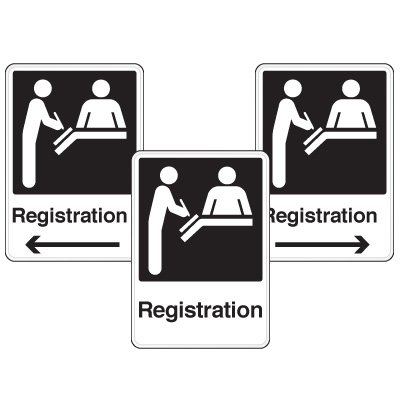 Health Care Facility Wayfinding Signs - Registration
