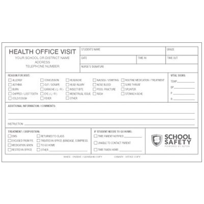 Health Office Visit - School Forms and Passes