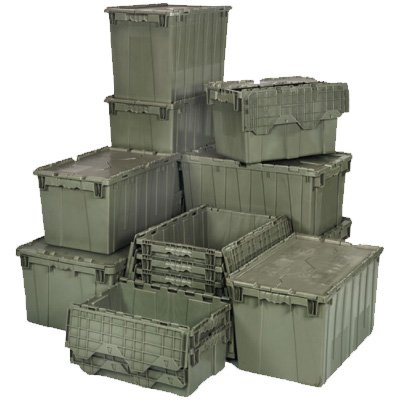 Attached-Top Storage Totes