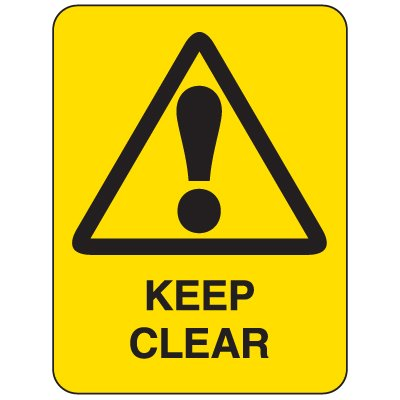 Heavy Duty Clearance and Crane Signs - Keep Clear