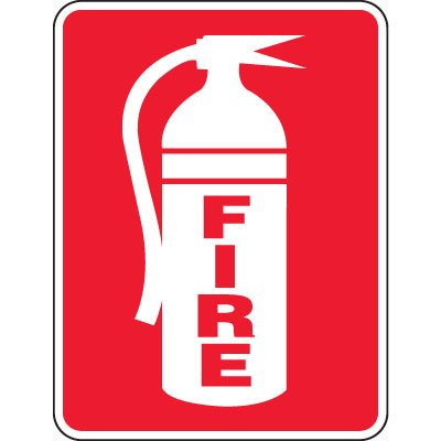 Heavy-Duty Emergency Rescue & Evacuation Signs - Fire (with graphic)
