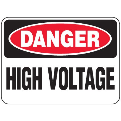 Heavy-Duty Hazardous Work Site Signs - High Voltage