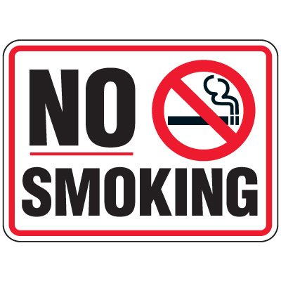 Heavy-Duty Hazardous Work Site Signs - No Smoking