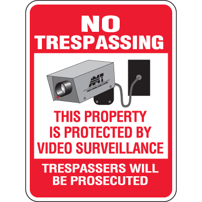 Heavy-Duty Property Protection Signs- No Trespassing