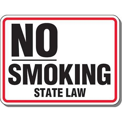 Heavy-Duty Smoking Signs - No Smoking State Law