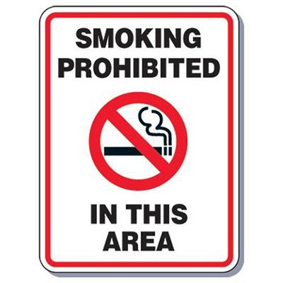 Heavy-Duty Smoking Signs - Smoking Prohibited In This Area