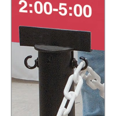 Stanchion Sign Adapter - Black