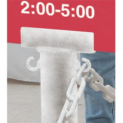 Stanchion Sign Adapter - White