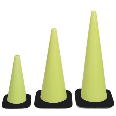 Hi-Visibility Fluorescent Lime Cones
