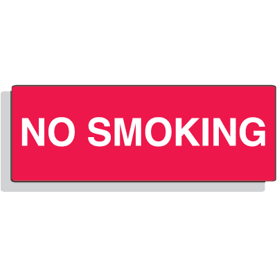 "Fiberglass Sign - No Smoking - 14"" x 5"""