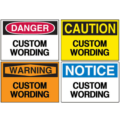 Custom Seton UltraTuff™ High Performance Safety Labels