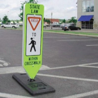 State Law In-Street Pedestrian (Symbol) Crosswalk Signs