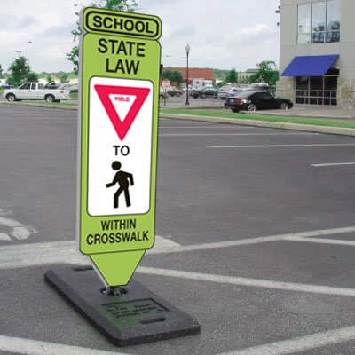 School State Law Yield To Pedestrians Within Crosswalk Signs