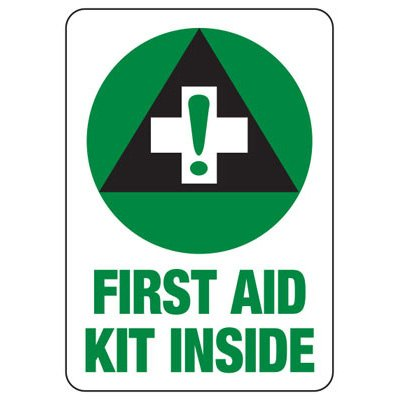 First Aid Kit - First Aid Sign
