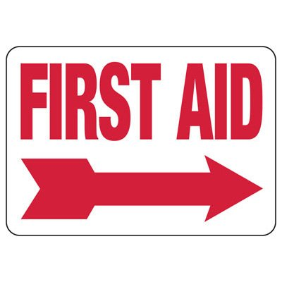 First Aid (Right Arrow) - First Aid Signs