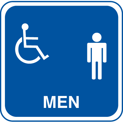 Handicap Accessible Men's Rest Room Signs