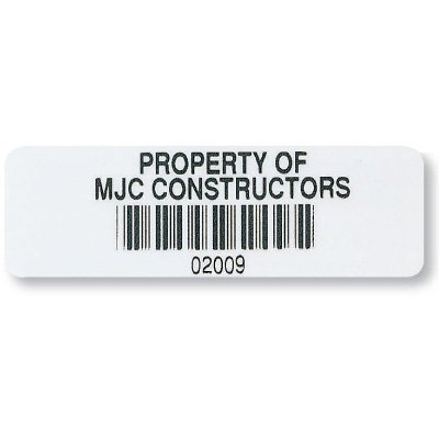 Custom Industrial Bar Code Asset Labels